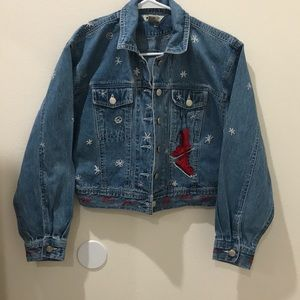 Gap Original Embroidered Christmas Denim Jacket